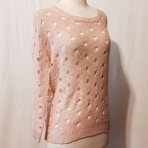 Peach Crochet Front with Sheer Skull Back …